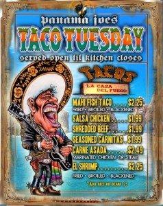 Panama Joes Taco Tuesday
