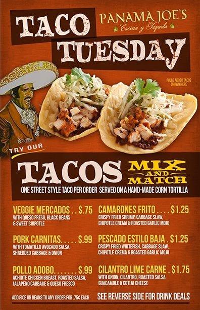 Taco Tuesday Panama Joe's Belmont Shore