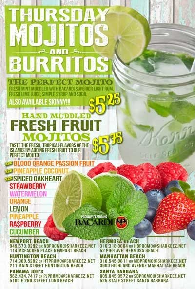 Thursday Mojitos & Burritos Panama Joes Belmont Shore 2