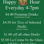 Dogz Bar & Grill Daily Happy Hour