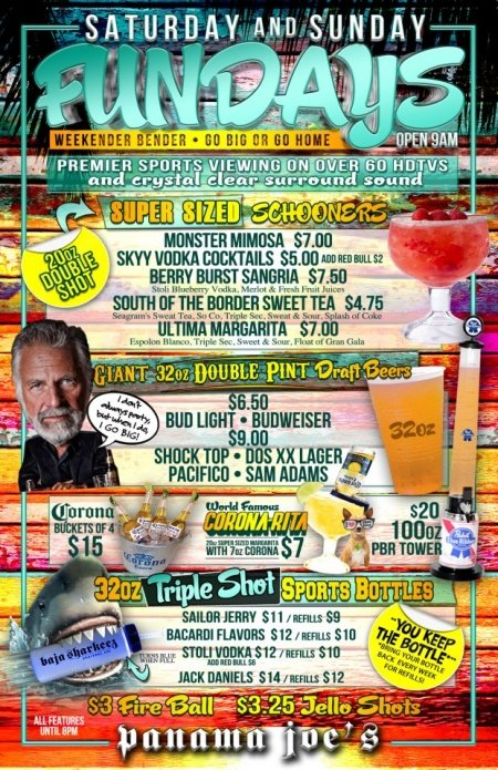 Saturday & Sunday Weekend Drink Specials at Panama Joes Long Beach Belmont Shore