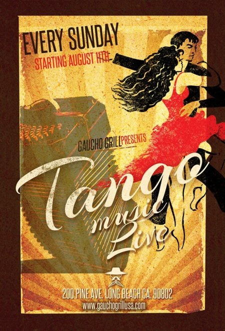 Every Sunday at 7pm Live Tango Music at Gaucho Grill Long Beach