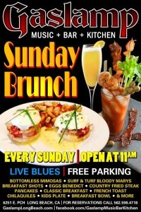 Sunday Blues Brunch at The Gaslamp Long Beach Bottomless Mimosas & Live Blues!