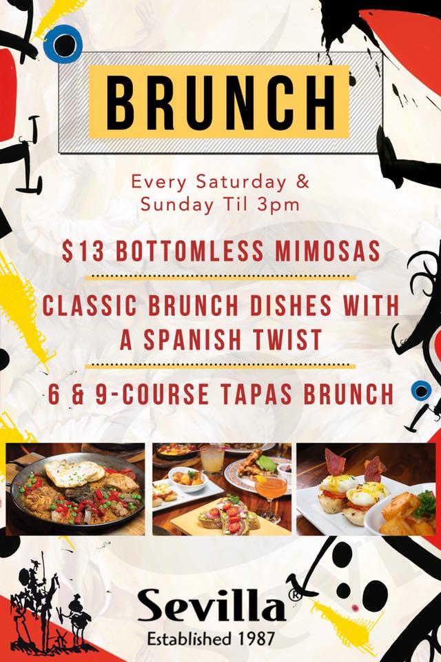 $13 Bottomless Mimosas at Cafe Sevilla