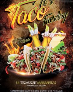 Tacu Tuesday Hamburger Mary's Long Beach
