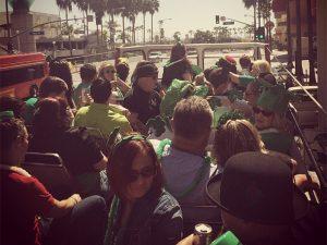 Big Red Bus St Patrick's Day Pub Crawl Long Beach CA